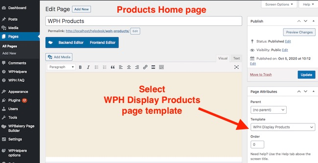 WPHelpere showcase products